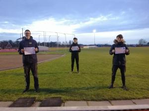 Drie nieuwe baanatletiek trainers