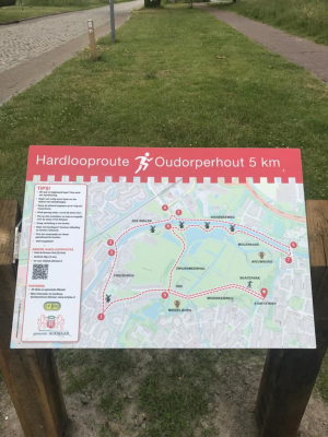Traject 5km testloop Oudorperhout